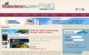 ZEWS en artículo de sitios web para PYMES de El Financiero