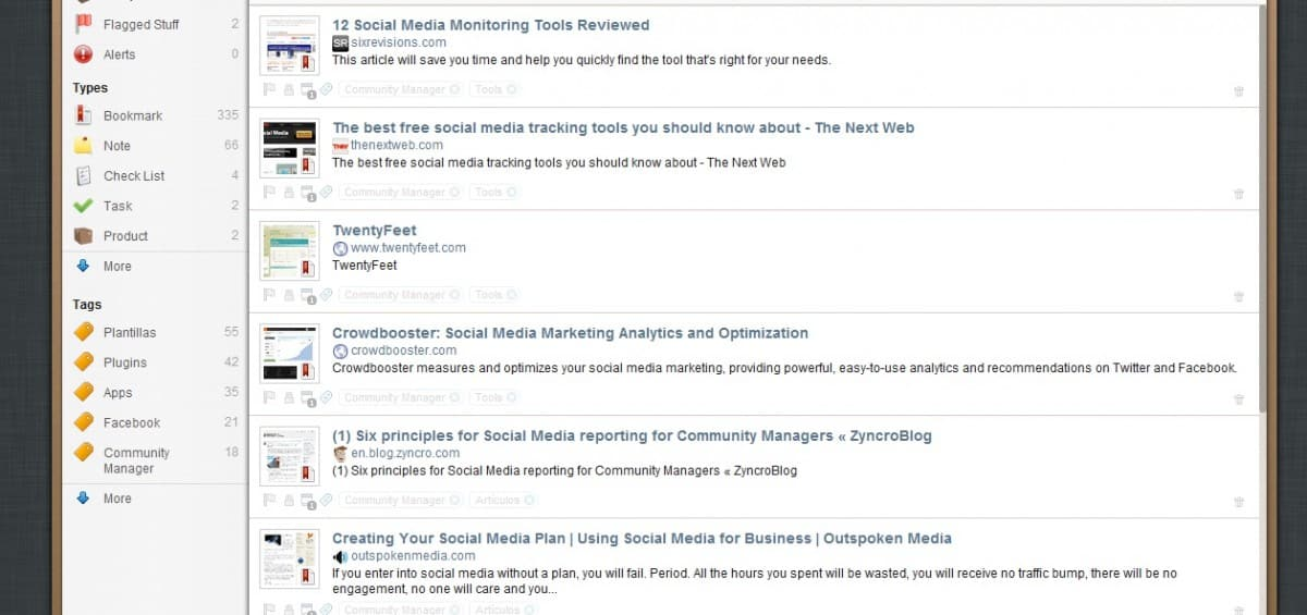 Springpad: organice sus enlaces, notas y tareas en línea