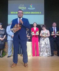 Recibiendo el Premio Crestones 2018.