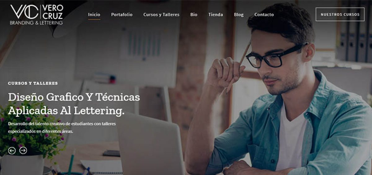 Vero-Cruz Branding & Lettering sitio web